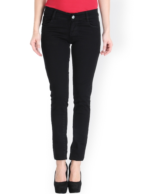 fungus Women Black Slim Fit Low-Rise Clean Look Jeans  available at myntra for Rs.1119