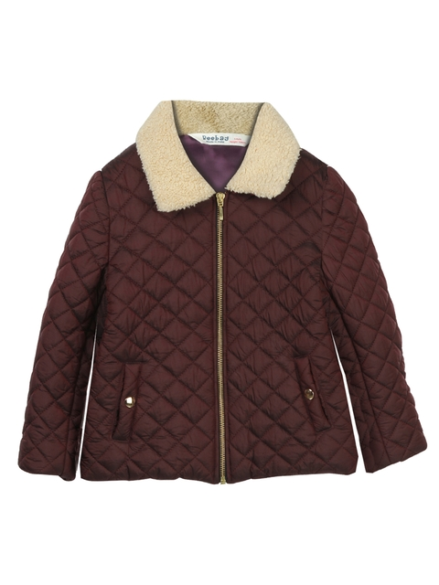 Beebay Girls Brown Quilted Jacket