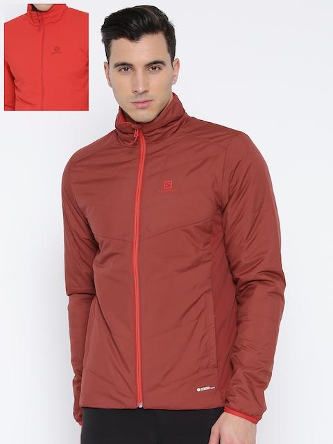 Salomon Rust Orange & Red Padded Reversible Drifter Jacket