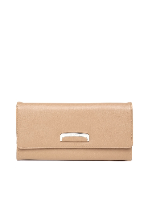 Lavie Women Beige Leather Wallet