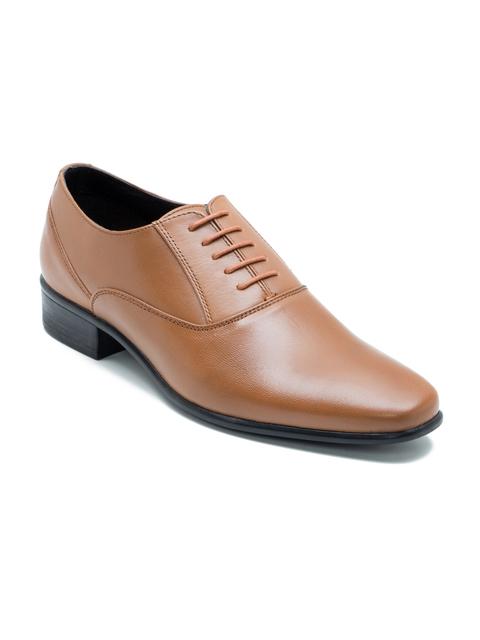 Franco Leone Men Tan Brown Leather Oxfords
