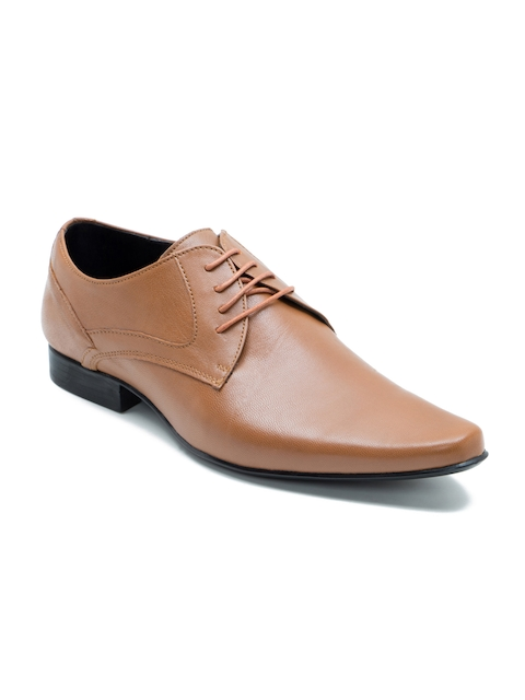 Franco Leone Men Tan Brown Leather Derbys
