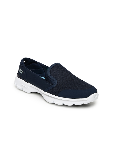 Skechers Women Navy Blue Go Walk Walking Shoes