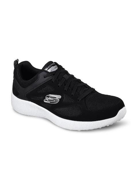 Skechers Men Black Burst Running Shoes
