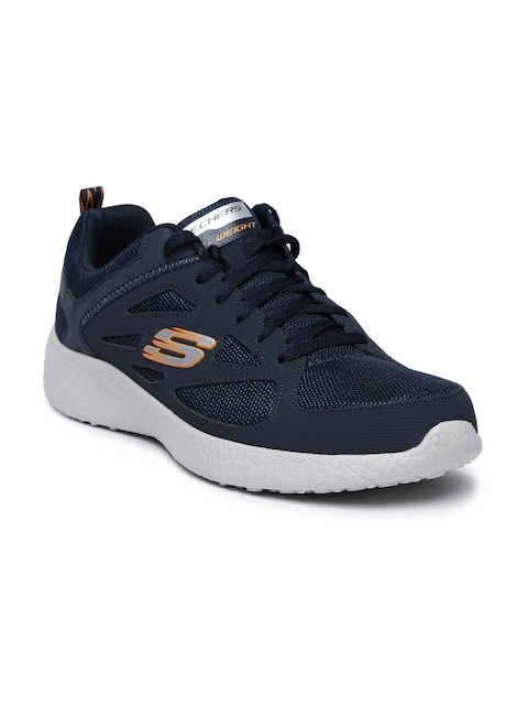 Skechers Men Navy Burst Running Shoes