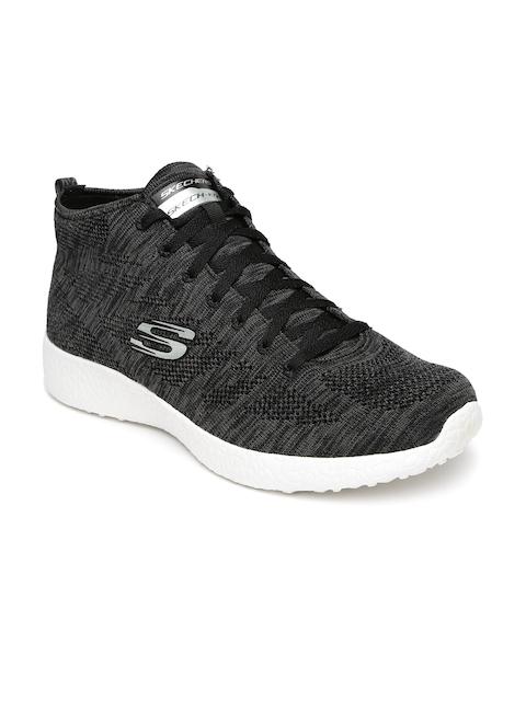Skechers Men Charcoal Grey Burst Running Shoes