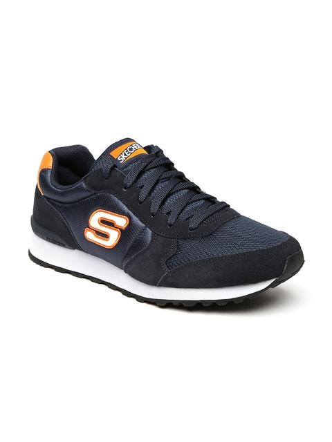Skechers Men Navy Blue 85 Early Grab OG Sneakers