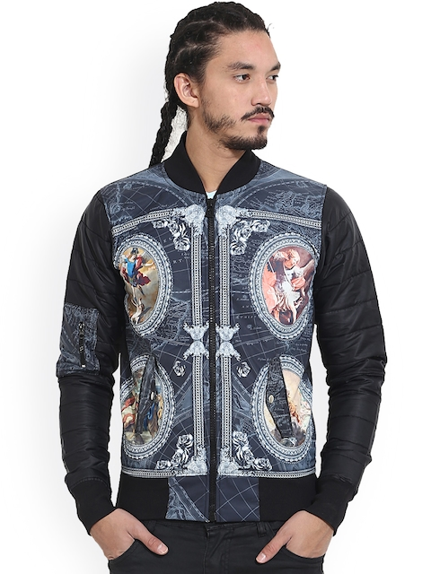 Wear Your Mind Multicoloured Printed Bomber Jacket