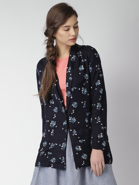 Mast & Harbour Navy Printed Tailored Jacket