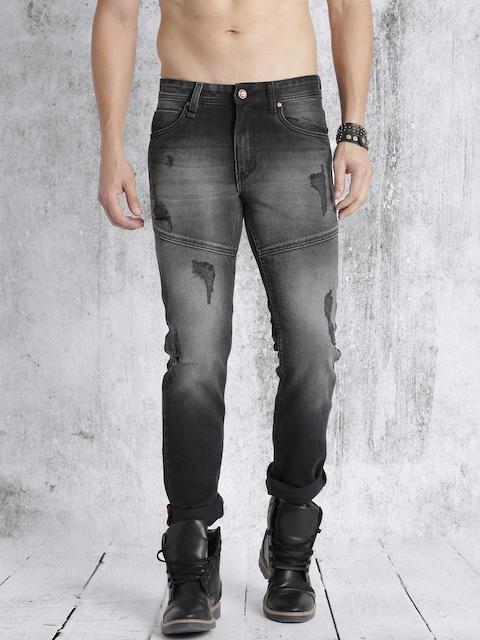 Roadster Men Black Slim Fit Mid-Rise Mildly Distressed Jeans