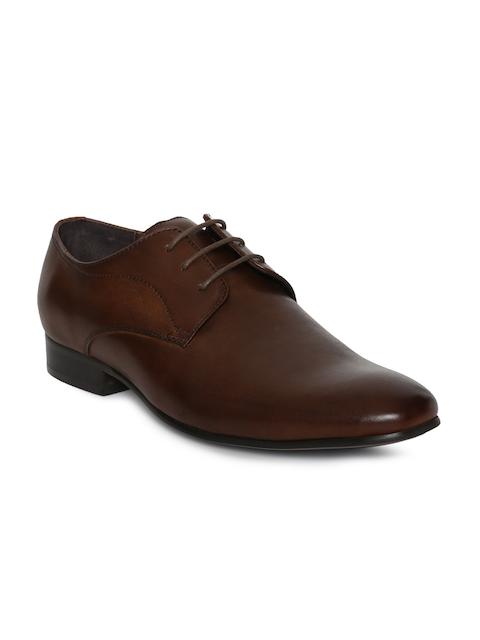 Steve Madden Men Brown Leather Henson Formal Derbys