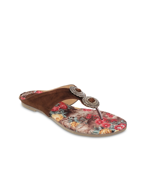 Mochi Women Brown Sandals