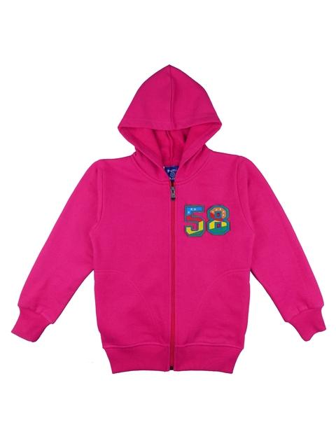 SWEET ANGEL Kids Pink Fleece Hooded Sweatshirt