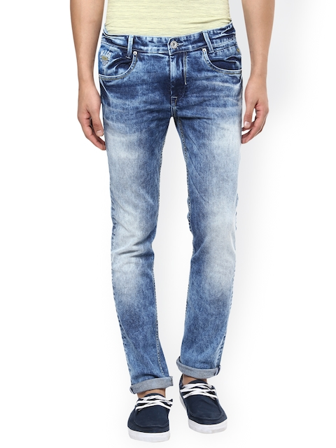 Mufti Men Blue Narrow Fit Stretchable Jeans