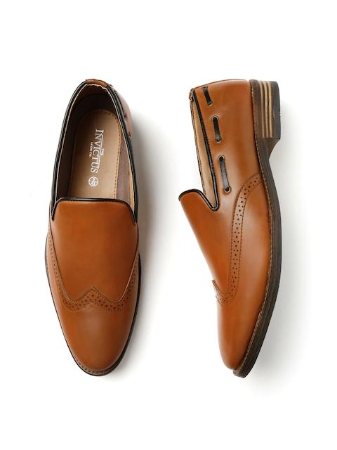 INVICTUS Men Tan Brown Semiformal Slip-Ons