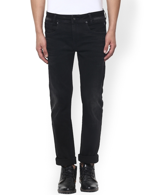Mufti Men Black Narrow Fit Stretchable Jeans