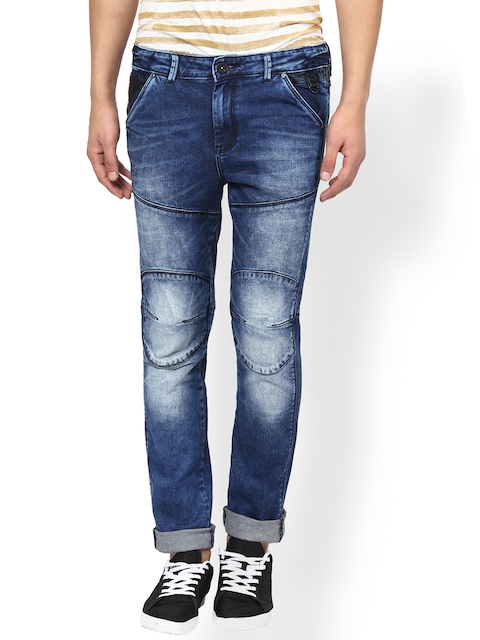 Mufti Men Blue Super-Slim Fit Stretchable Jeans
