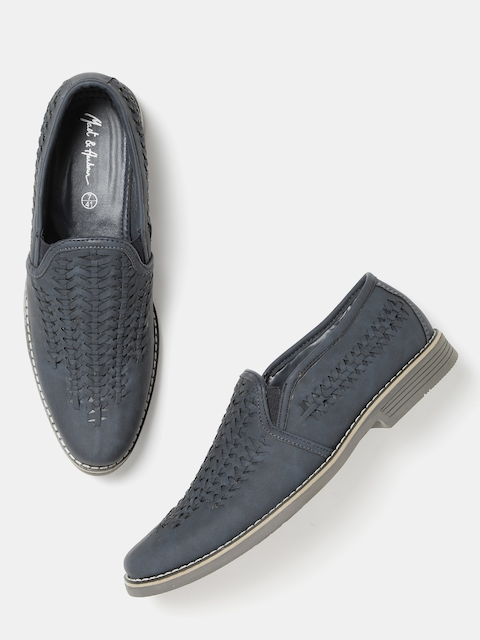 Mast & Harbour Men Navy Patterned Loafers