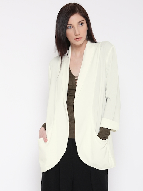 FOREVER 21 White Open Front Jacket