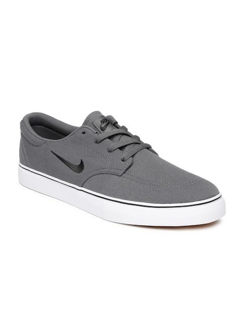 Nike Men Grey SB Clutch Skate Shoes