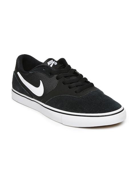 Nike Men Black PAUL RODRIGUEZ 9 VR Suede Skate Shoes