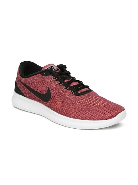 Nike Men Dark Pink Free RN Running Shoes