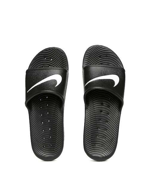 Nike Men Black Flip-Flops