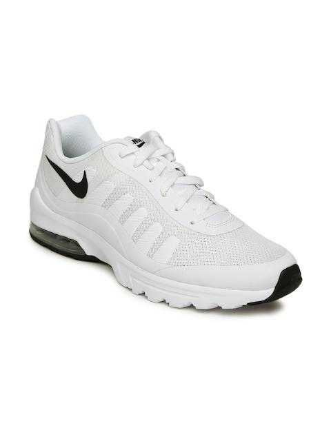 Nike Men White Air Max Invigor Sneakers