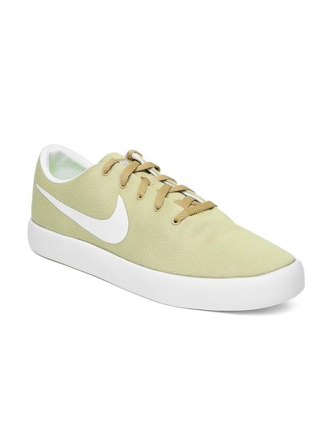 Nike Men Khaki Essentialist Canvas Sneakers