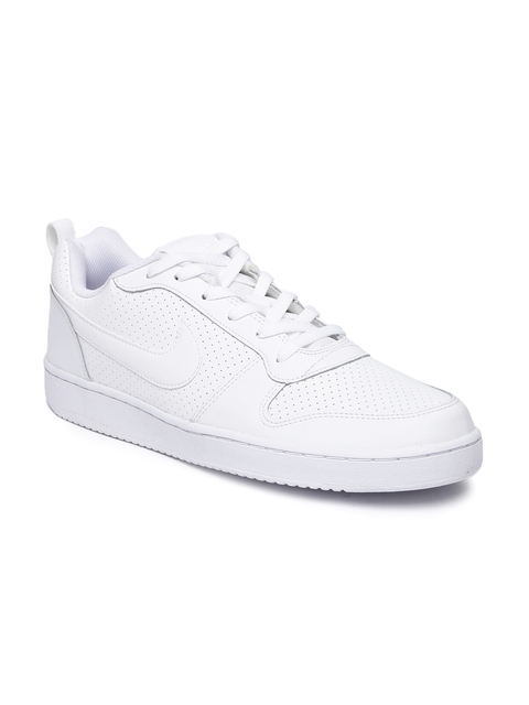 Nike Men White Perforations Court Borough Sneakers