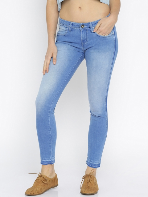 Wrangler Women Blue Skinny Fit Low-Rise Stretchable Jeans
