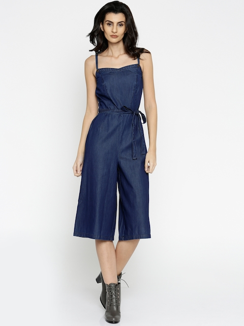 Vero Moda Blue Denim Jumpsuit