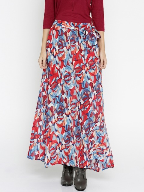 Vero Moda Multicoloured Printed Maxi Skirt