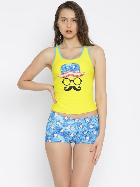Heart 2 Heart Yellow & Blue Printed Swimwear SW10034STARY
