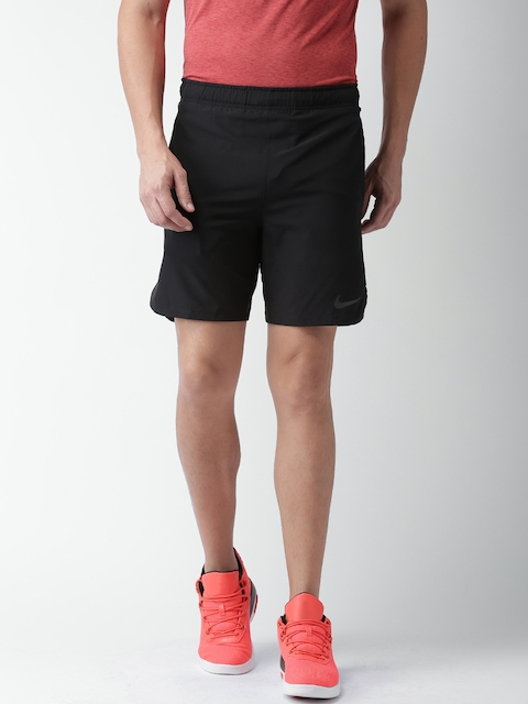 Nike Men Black AS FLX Vent Solid Sports Shorts