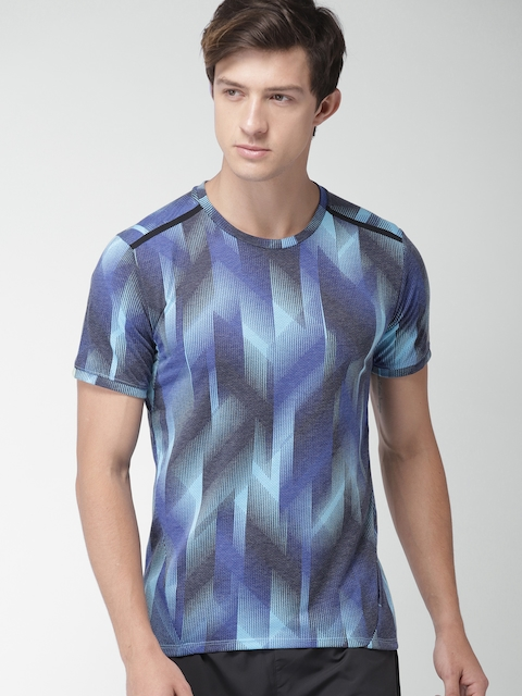 Nike Men Blue AS BRTHE SS TLWND CL Printed Round Neck T-shirt