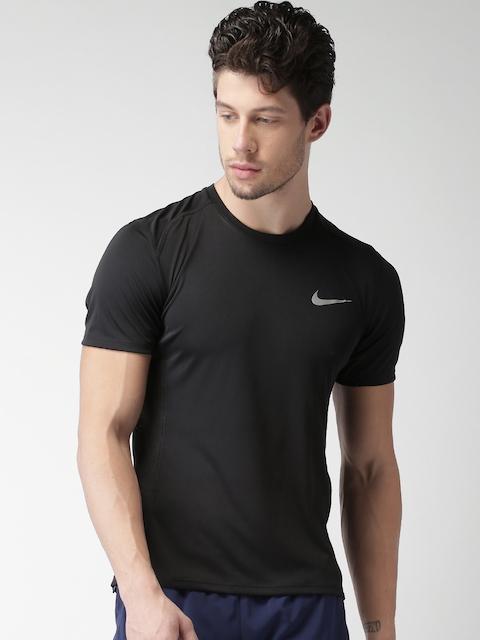 Nike Men Black AS M NK DRY MILER TOP SS T-shirt