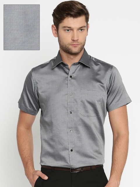 Raymond Men Grey Contemporary Fit Formal Shirt