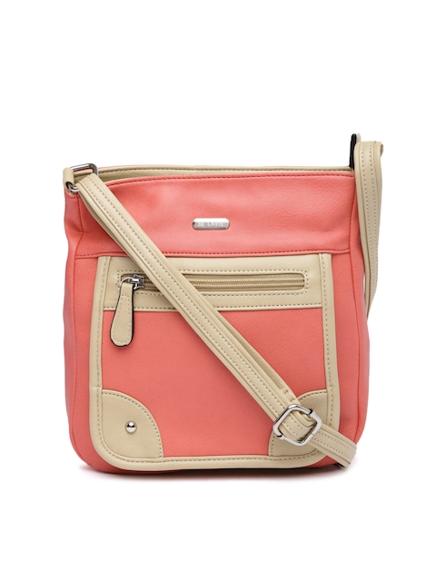 Lavie Coral Pink Sling Bag  available at myntra for Rs.798