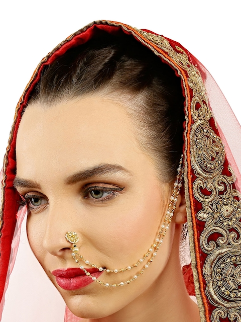 Yosshita & Neha Gold-Polished Nose Ring