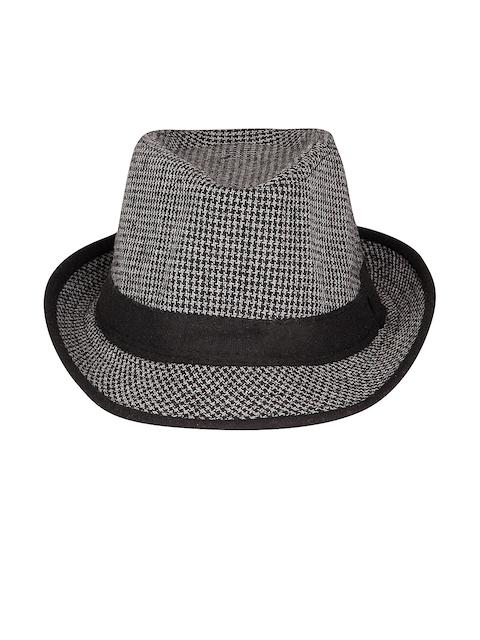 FabSeasons Men Black & White Fedora Hat