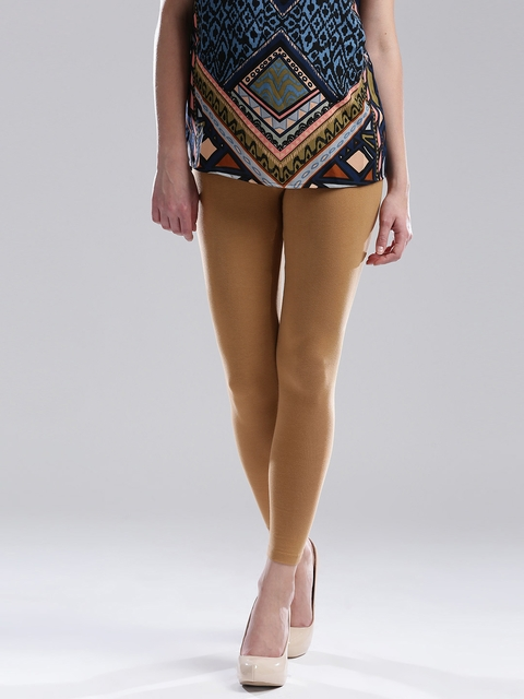 W Brown Ankle-Length Leggings