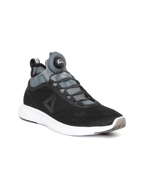 Reebok Women Black Pump Plus Tech Running Shoes