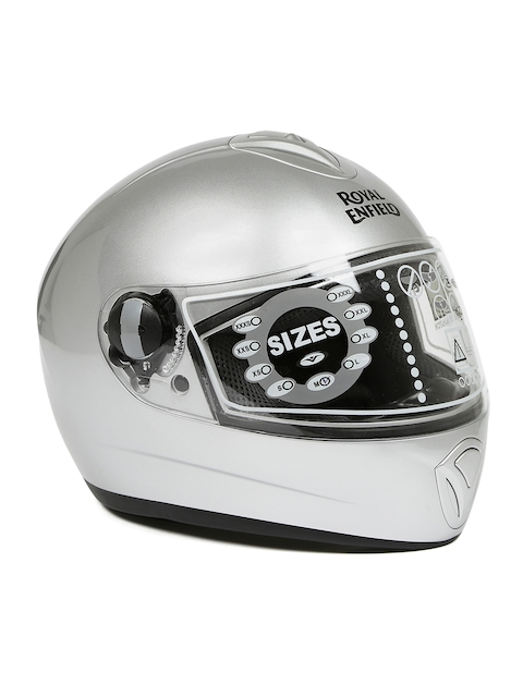 Royal Enfield Unisex Silver-Toned Street Mono Full Face Helmet RRGHEA000017