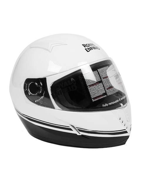 Royal Enfield White Street Pin Stripe Full Face Helmet