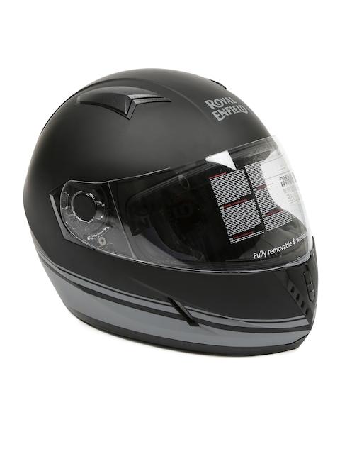 Royal Enfield Black Street Pin Stripe Full Face Helmet