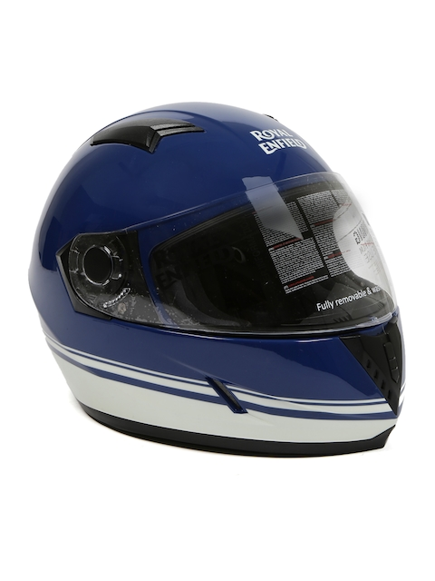 Royal Enfield Blue Pin Stripe Lagoon Full Face Helmet