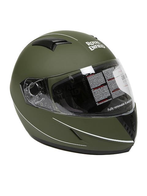 Royal Enfield Battle Green Street Pin Stripe Full Face Helmet