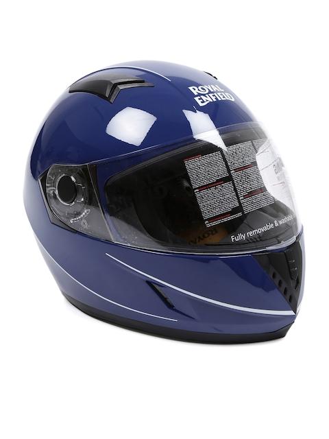 Royal Enfield Unisex Blue Street Pin Striped Lagoon Full Face Helmet