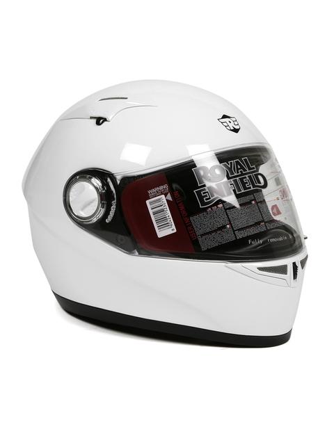 Royal Enfield White Street Nimbus Full Face Helmet
